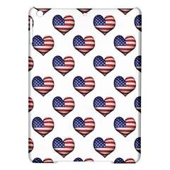 Usa Grunge Heart Shaped Flag Pattern iPad Air Hardshell Cases