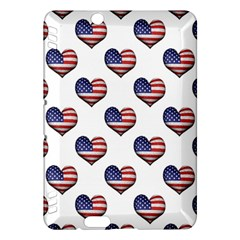 Usa Grunge Heart Shaped Flag Pattern Kindle Fire HDX Hardshell Case