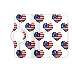 Usa Grunge Heart Shaped Flag Pattern Kindle Fire HD (2013) Flip 360 Case
