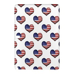 Usa Grunge Heart Shaped Flag Pattern Samsung Galaxy Tab Pro 12.2 Hardshell Case