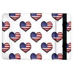 Usa Grunge Heart Shaped Flag Pattern iPad Air Flip