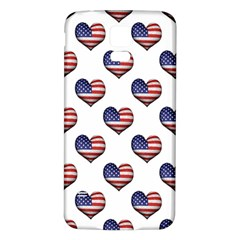 Usa Grunge Heart Shaped Flag Pattern Samsung Galaxy S5 Back Case (White)