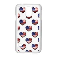 Usa Grunge Heart Shaped Flag Pattern Samsung Galaxy S5 Case (White)