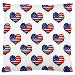 Usa Grunge Heart Shaped Flag Pattern Standard Flano Cushion Case (Two Sides)