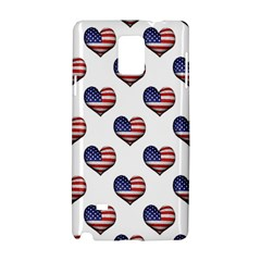 Usa Grunge Heart Shaped Flag Pattern Samsung Galaxy Note 4 Hardshell Case