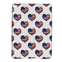 Usa Grunge Heart Shaped Flag Pattern iPad Air 2 Hardshell Cases