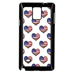 Usa Grunge Heart Shaped Flag Pattern Samsung Galaxy Note 4 Case (Black)
