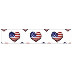 Usa Grunge Heart Shaped Flag Pattern Flano Scarf (Small)