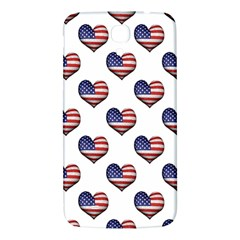 Usa Grunge Heart Shaped Flag Pattern Samsung Galaxy Mega I9200 Hardshell Back Case