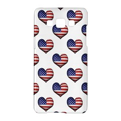Usa Grunge Heart Shaped Flag Pattern Samsung Galaxy A5 Hardshell Case