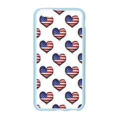 Usa Grunge Heart Shaped Flag Pattern Apple Seamless iPhone 6/6S Case (Color)