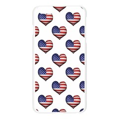 Usa Grunge Heart Shaped Flag Pattern Apple Seamless iPhone 6 Plus/6S Plus Case (Transparent)