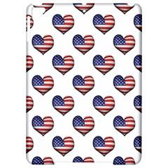 Usa Grunge Heart Shaped Flag Pattern Apple iPad Pro 9.7   Hardshell Case
