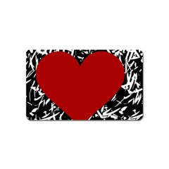 Red Valentine Magnet (Name Card)