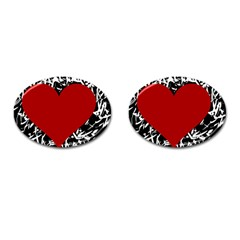Red Valentine Cufflinks (Oval)