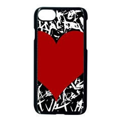 Red Valentine Apple Iphone 7 Seamless Case (black)
