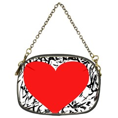 Red Valentine 2 Chain Purses (Two Sides)