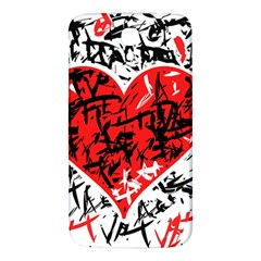 Red Hart   Graffiti Style Samsung Galaxy Mega I9200 Hardshell Back Case