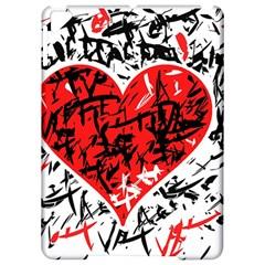 Red Hart   Graffiti Style Apple Ipad Pro 9 7   Hardshell Case