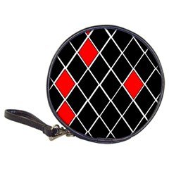 Elegant Black And White Red Diamonds Pattern Classic 20-CD Wallets