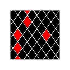 Elegant Black And White Red Diamonds Pattern Acrylic Tangram Puzzle (4  x 4 )