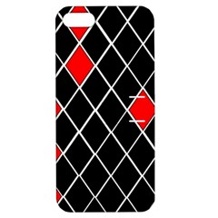 Elegant Black And White Red Diamonds Pattern Apple iPhone 5 Hardshell Case with Stand