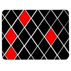 Elegant Black And White Red Diamonds Pattern Samsung Galaxy Tab 7  P1000 Flip Case