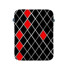 Elegant Black And White Red Diamonds Pattern Apple iPad 2/3/4 Protective Soft Cases