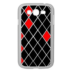 Elegant Black And White Red Diamonds Pattern Samsung Galaxy Grand DUOS I9082 Case (White)