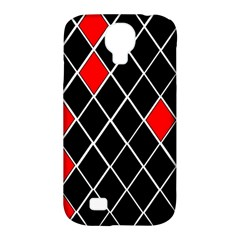 Elegant Black And White Red Diamonds Pattern Samsung Galaxy S4 Classic Hardshell Case (PC+Silicone)