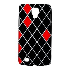 Elegant Black And White Red Diamonds Pattern Galaxy S4 Active
