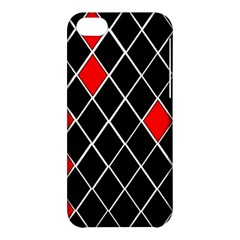 Elegant Black And White Red Diamonds Pattern Apple iPhone 5C Hardshell Case