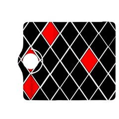 Elegant Black And White Red Diamonds Pattern Kindle Fire HDX 8.9  Flip 360 Case