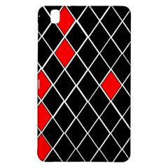 Elegant Black And White Red Diamonds Pattern Samsung Galaxy Tab Pro 8.4 Hardshell Case