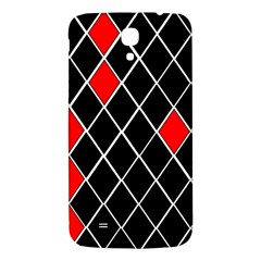 Elegant Black And White Red Diamonds Pattern Samsung Galaxy Mega I9200 Hardshell Back Case