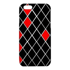 Elegant Black And White Red Diamonds Pattern iPhone 6/6S TPU Case