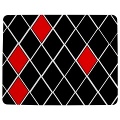 Elegant Black And White Red Diamonds Pattern Jigsaw Puzzle Photo Stand (Rectangular)