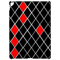 Elegant Black And White Red Diamonds Pattern Apple Ipad Pro 12 9   Hardshell Case
