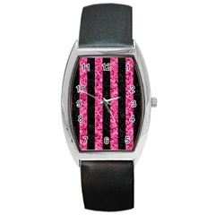 STR1 BK-PK MARBLE Barrel Style Metal Watch