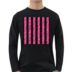 STR1 BK-PK MARBLE Long Sleeve Dark T-Shirts