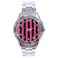 STR1 BK-PK MARBLE Stainless Steel Analogue Watch