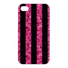 STR1 BK-PK MARBLE Apple iPhone 4/4S Premium Hardshell Case