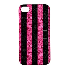 STR1 BK-PK MARBLE Apple iPhone 4/4S Hardshell Case with Stand