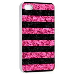 STR2 BK-PK MARBLE Apple iPhone 4/4s Seamless Case (White)