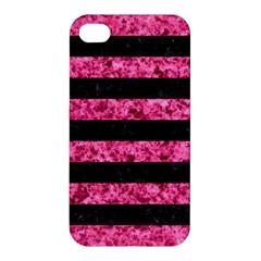STR2 BK-PK MARBLE Apple iPhone 4/4S Hardshell Case