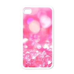 Cute pink transparent diamond  Apple iPhone 4 Case (White)