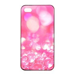 Cute pink transparent diamond  Apple iPhone 4/4s Seamless Case (Black)