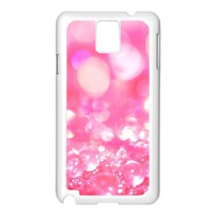 Cute pink transparent diamond  Samsung Galaxy Note 3 N9005 Case (White)