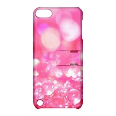 Cute pink glamour diamonds Apple iPod Touch 5 Hardshell Case with Stand