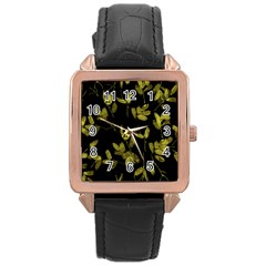 Leggings Rose Gold Leather Watch